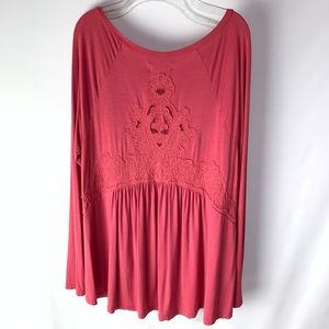 AE Outfitters Soft & Sexy Lace Embroidered Shirt